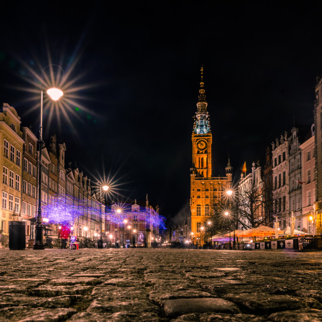 """Gdansk by night"" stock image"