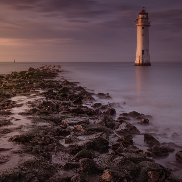 """Perch Rock lighthouse New Brighton"" stock image"