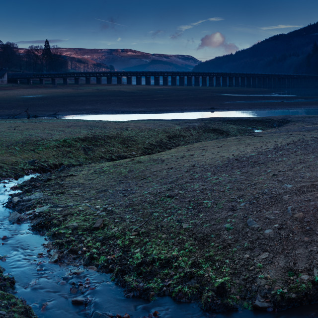"""The Ladybower Reservoir in wintertime"" stock image"