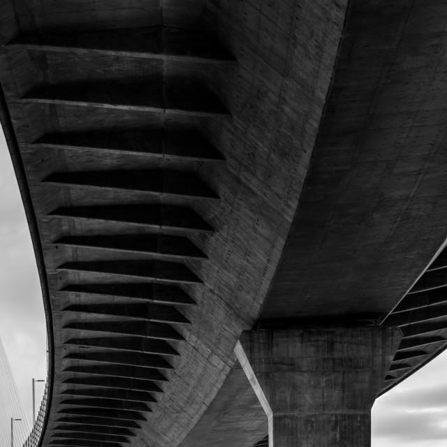 """Mersey Gateway Bridge"" stock image"