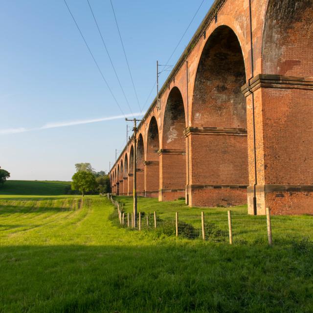 """""""Twemlow railway viaduct"""" stock image"""