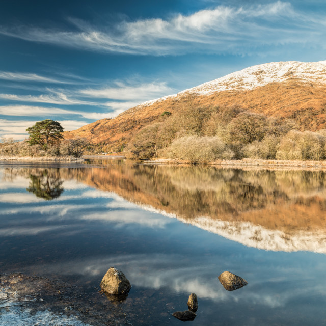 """""""Reflections on Loch Awe"""" stock image"""