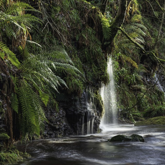 """""""Lumb Hole water feature"""" stock image"""