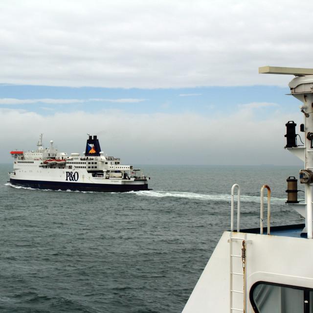 """Passing Ferries"" stock image"