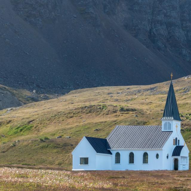 """Grytviken church"" stock image"
