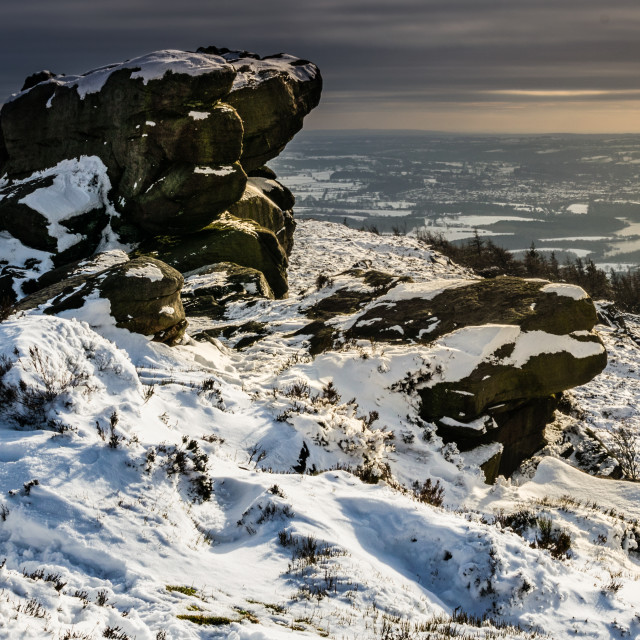 """Gritstone winter monolith"" stock image"