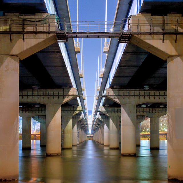 """""""Below Mapo Bridge"""" stock image"""