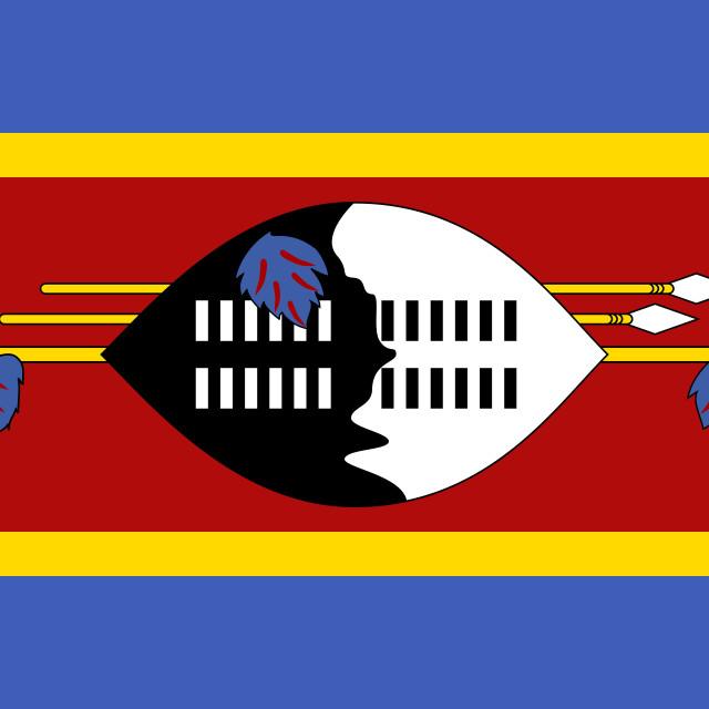 """Flag of Eswatini"" stock image"
