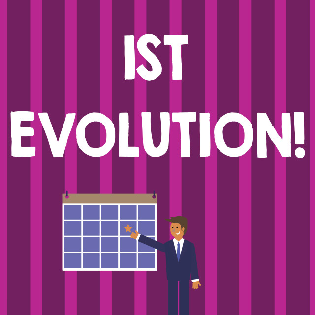 """""""Word writing text 1St Evolution. Business concept for Change in the genetic..."""" stock image"""