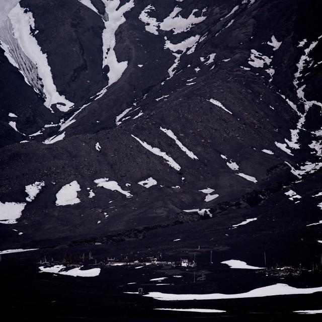 """""""Abandoned on Deception Island"""" stock image"""