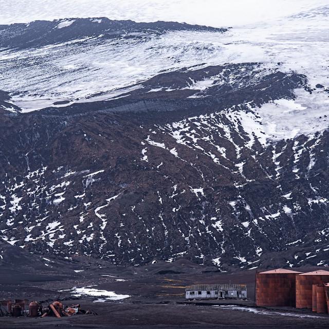 """Whaling Station - Deception Island"" stock image"