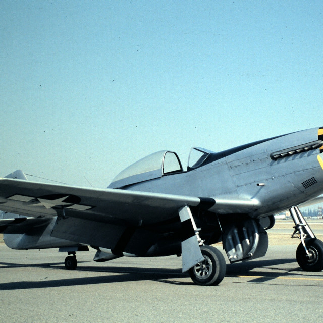 """NORTH AMERICAN P-51D"" stock image"