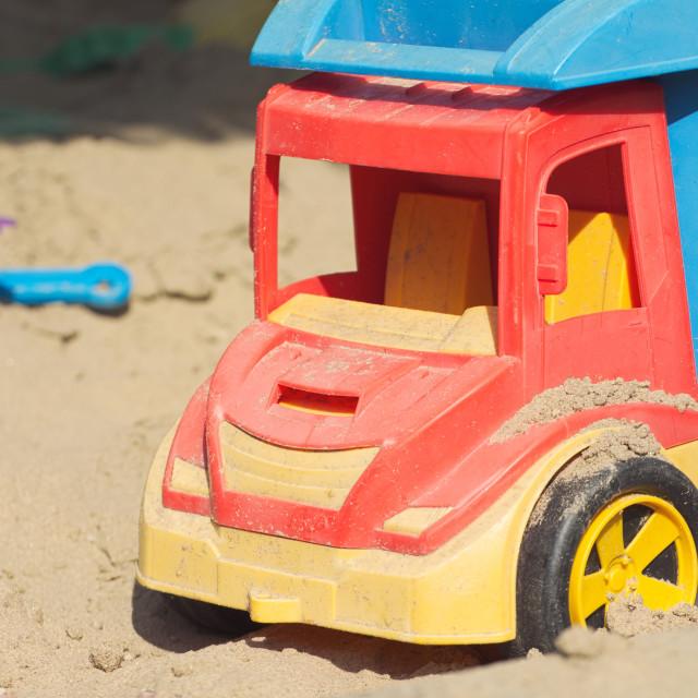 """Plastic Truck Toy"" stock image"