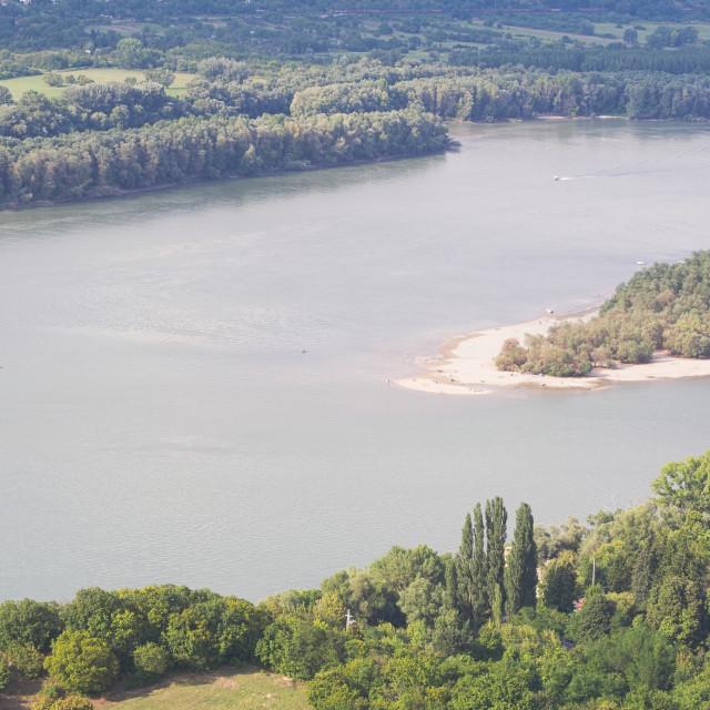 """""""Kisoroszi Szigetcsucs Island Peak"""" stock image"""