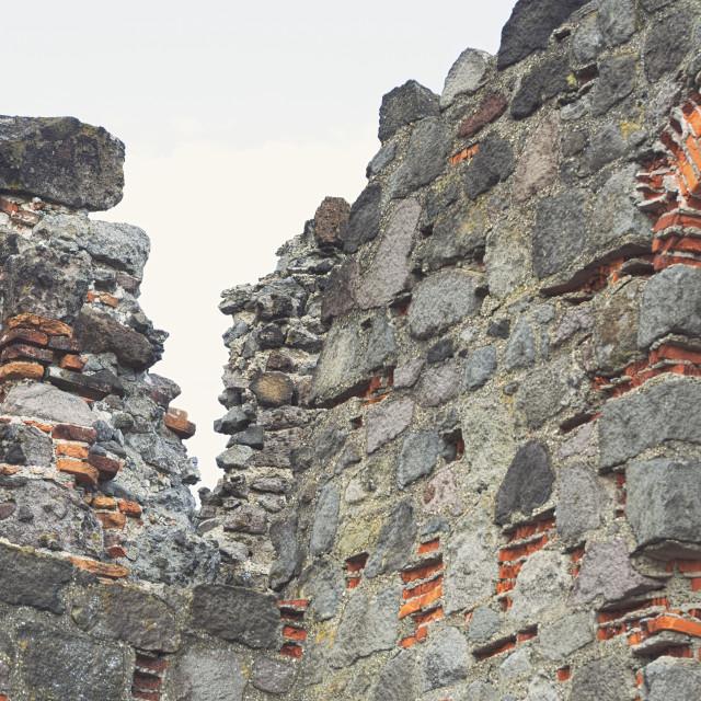 """Castle Ruin Closeup"" stock image"