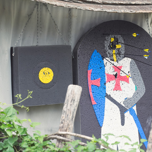 """""""Medieval Knight Archery Target"""" stock image"""