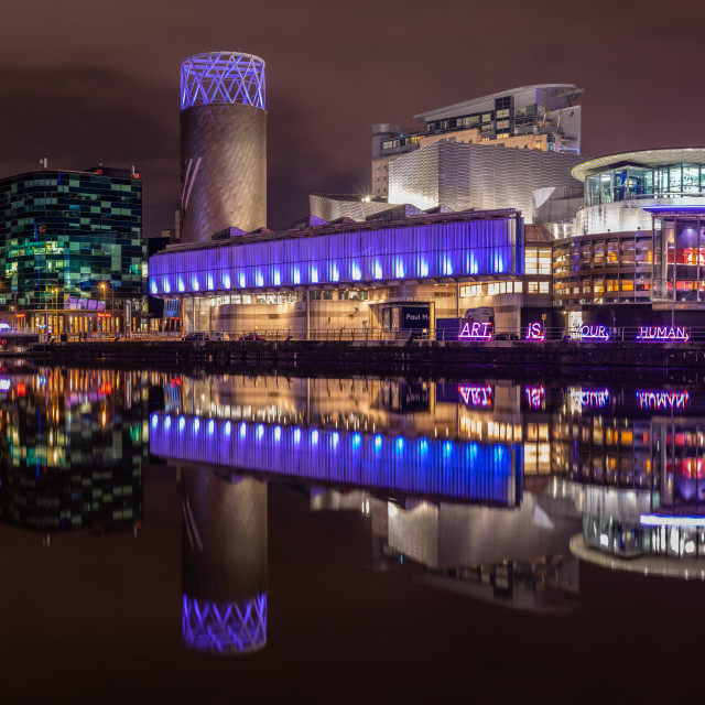 """The Salford Quays, Manchester, UK"" stock image"