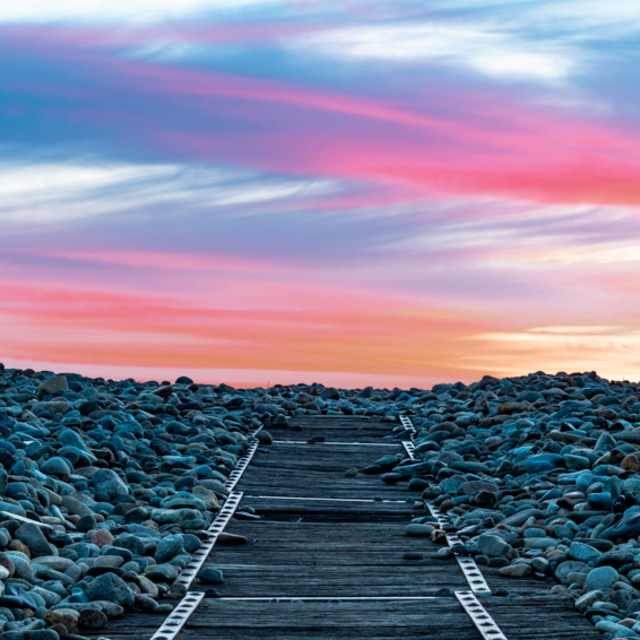 """Sunset over the Walkway"" stock image"