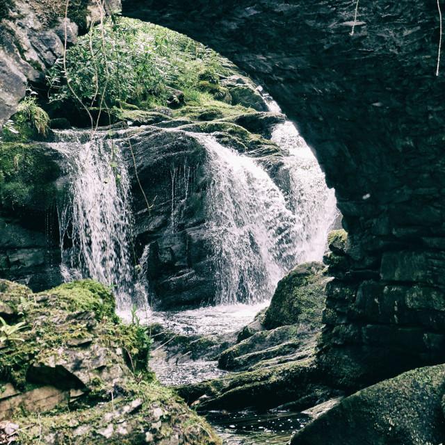 """Waterfall in Ireland"" stock image"