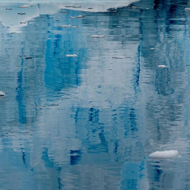"""iceberg reflections"" stock image"