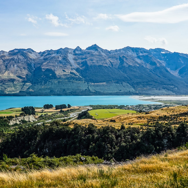 """Glenorchy and Lake Whakatipu"" stock image"