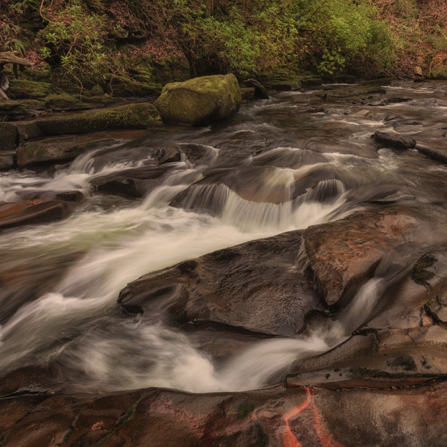 """The Upper Clydach River in Pontardawe, Swansea"" stock image"