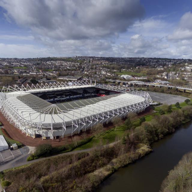 """Liberty Stadium, Swansea."" stock image"