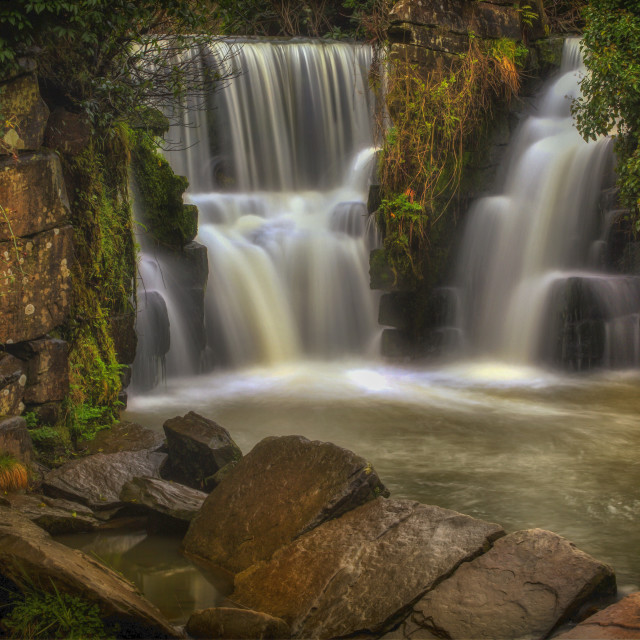 """""""The waterfall at Penllergare"""" stock image"""