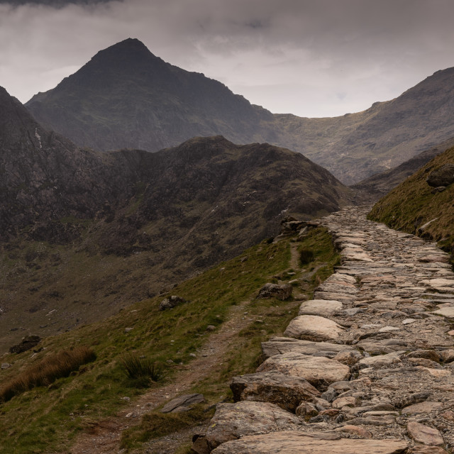 """Mountain track, Snowdonia"" stock image"