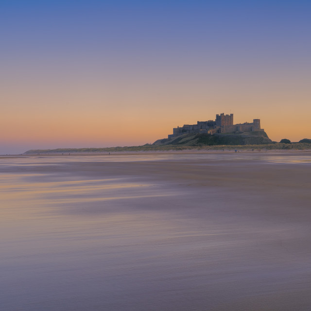 """Bamburgh Castle at Sunset"" stock image"