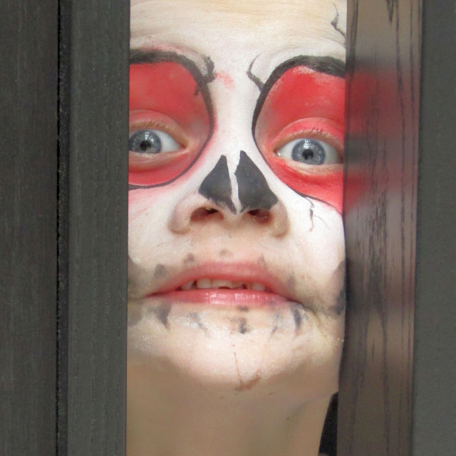 """""""Face painting stare!"""" stock image"""