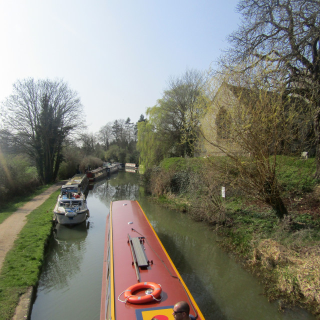 """Oxford Canal at Thrupp"" stock image"