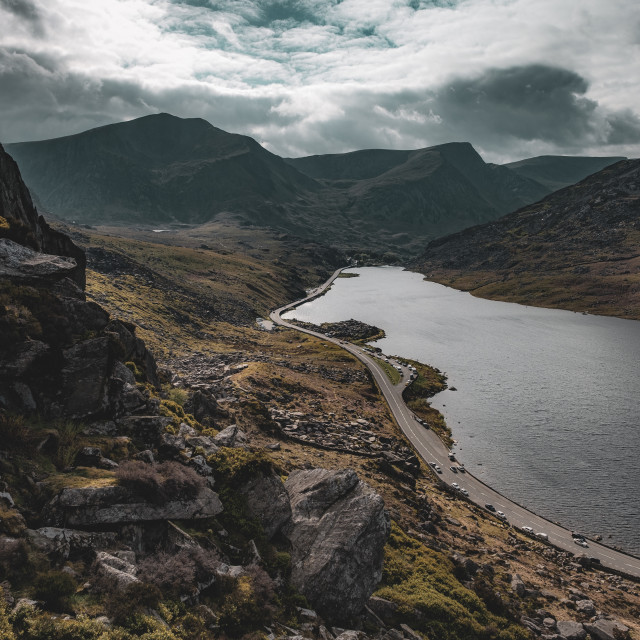 """Llyn Ogwen in North Wales"" stock image"