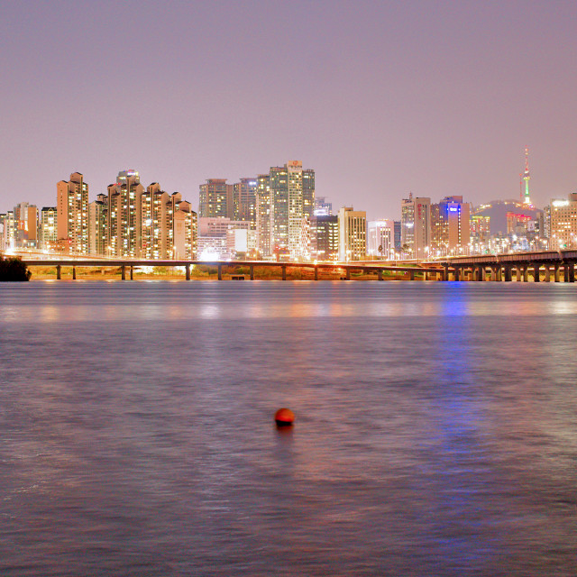 """Seoul and Han River"" stock image"