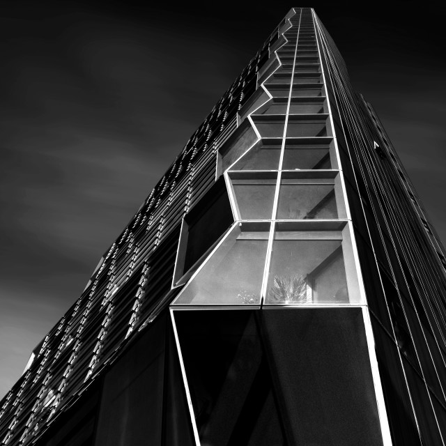 """Zig Zag tower Surrey Quays"" stock image"