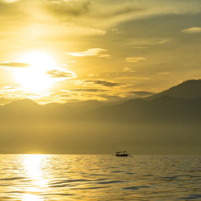 """Sunrise over Bali, Indonesia"" stock image"