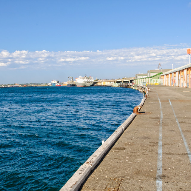 """Inner Harbour - Fremantle"" stock image"
