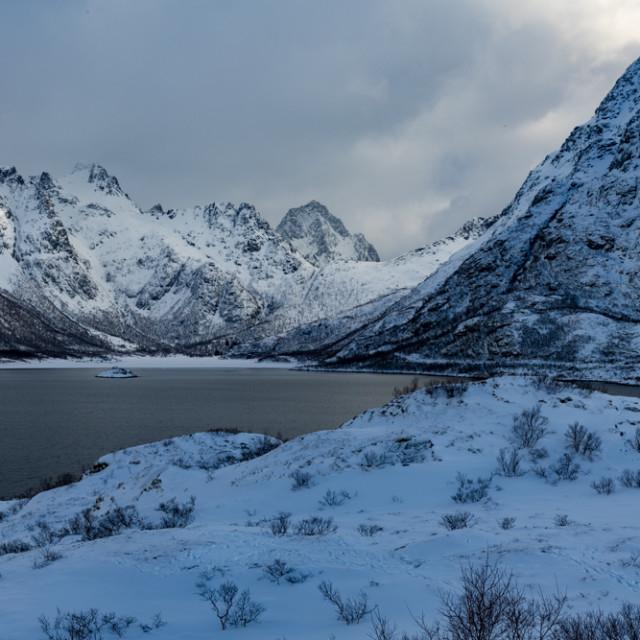 """""""Mountain Snow"""" stock image"""