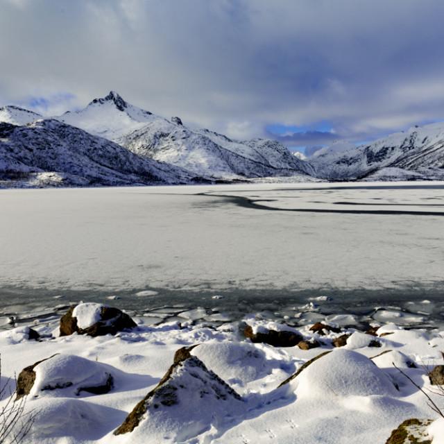 """Frozen Lake"" stock image"