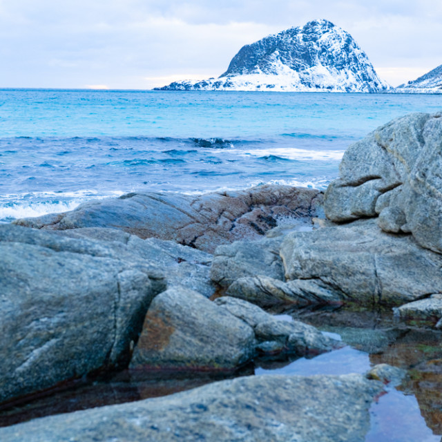 """""""Rock pools at the beach"""" stock image"""