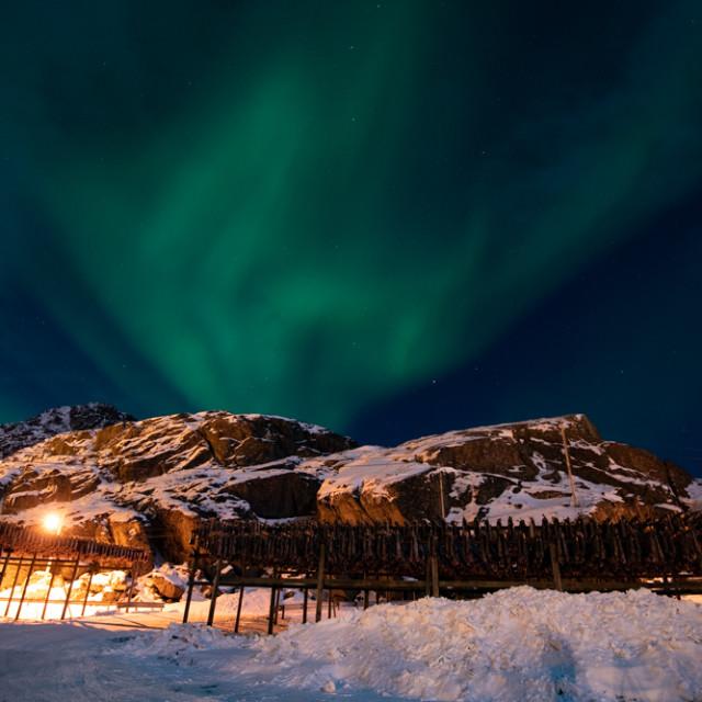 """""""Aurora Dancing"""" stock image"""