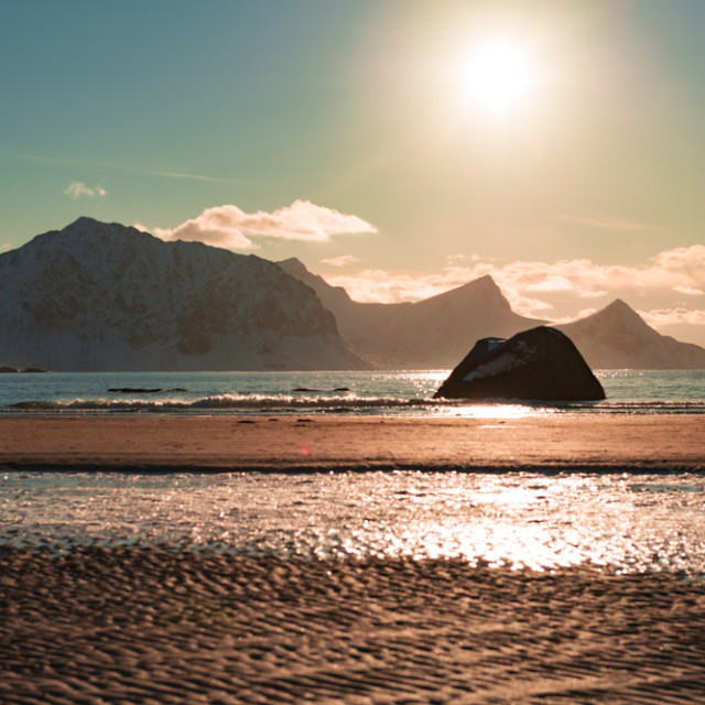 """""""Sunset at the beach"""" stock image"""