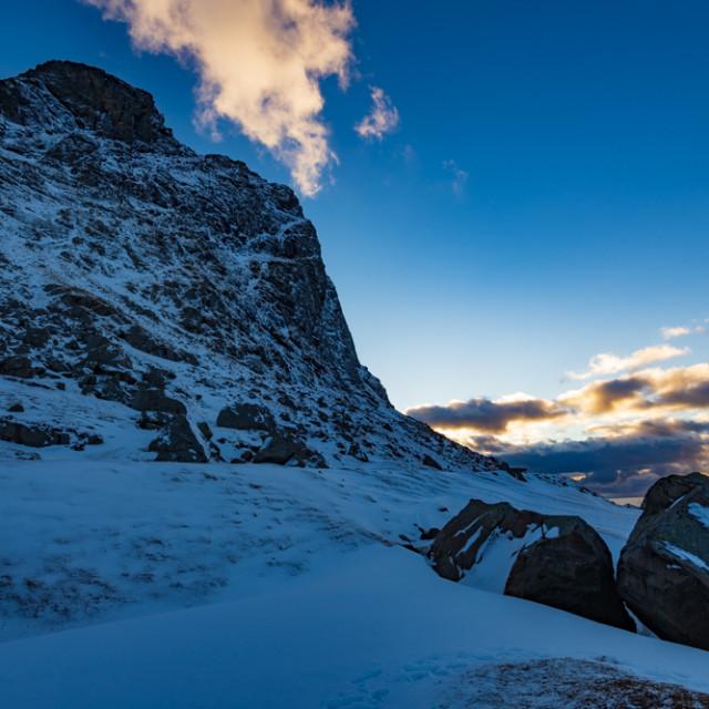 """Sunset the rocks"" stock image"