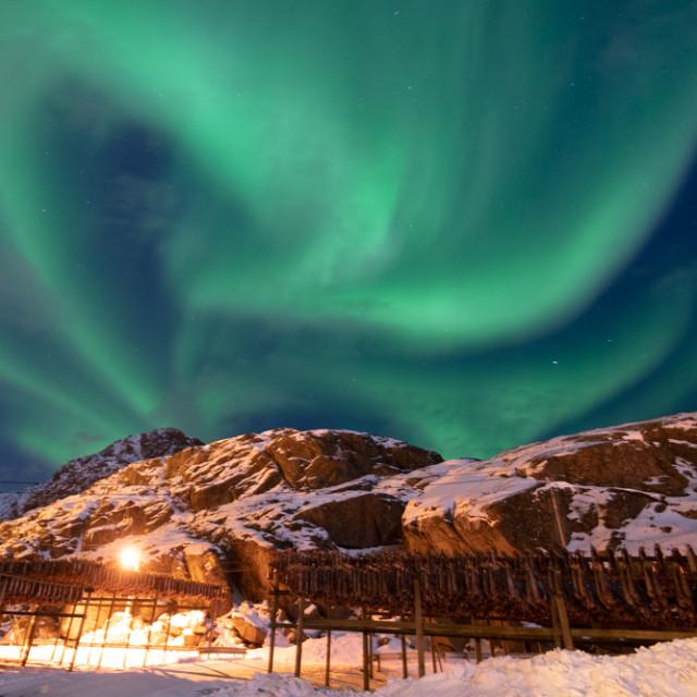 """Aurora on Fire"" stock image"