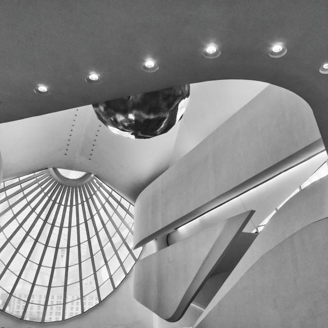 """""""Museum of Tomorrow Atrium"""" stock image"""