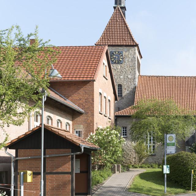 """Village Main Square"" stock image"
