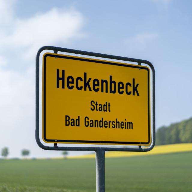 """Village Entry Heckenbeck"" stock image"
