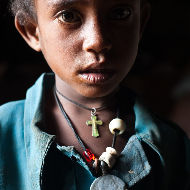 """Girl from the Amhara ethnic group ( Ethiopia)"" stock image"