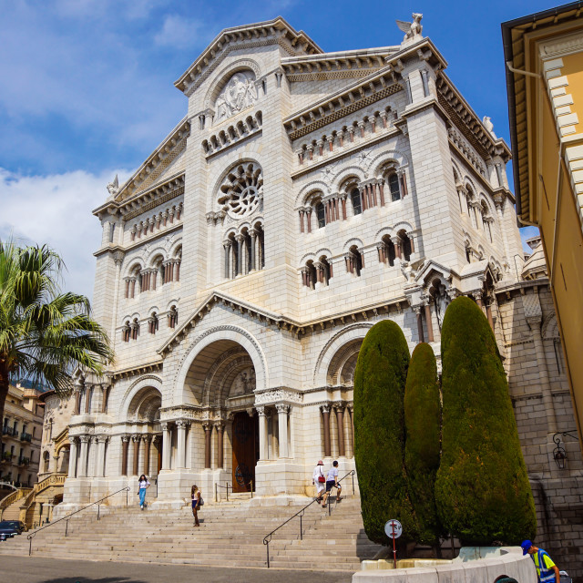 """Monaco France 16 August 2017 : Saint nicholas cathedrale in Monte Carlo, Monaco."" stock image"