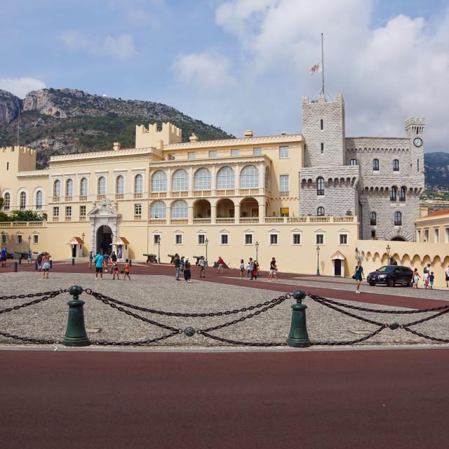 """Monaco France 16 August 2017 : Prince's Palace of Monaco"" stock image"
